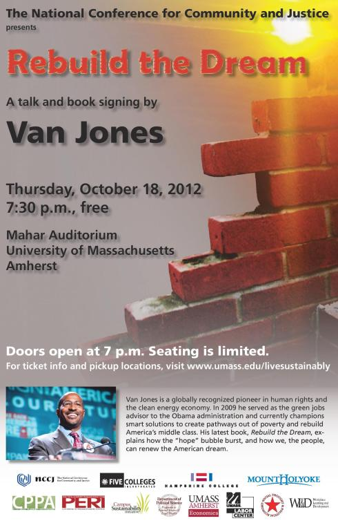 Van Jones Event at UMASS Amherst